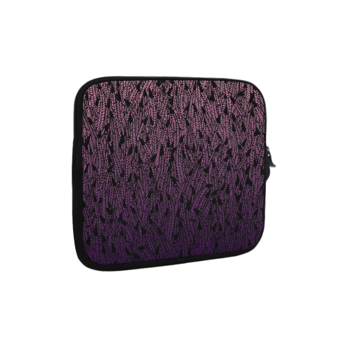pink purple ombre feather pattern black Microsoft Surface Pro 3/4