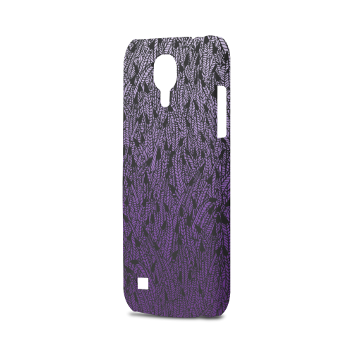 purple ombre feathers pattern black Hard Case for Samsung Galaxy S4 mini