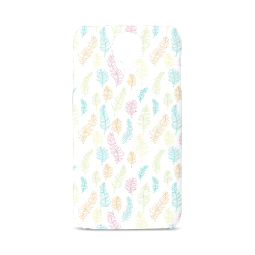 fun feather pattern teal pink orange green Hard Case for Samsung Galaxy S4