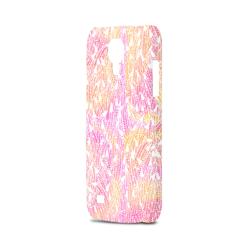 pink yellow white feather pattern Hard Case for Samsung Galaxy S4 mini