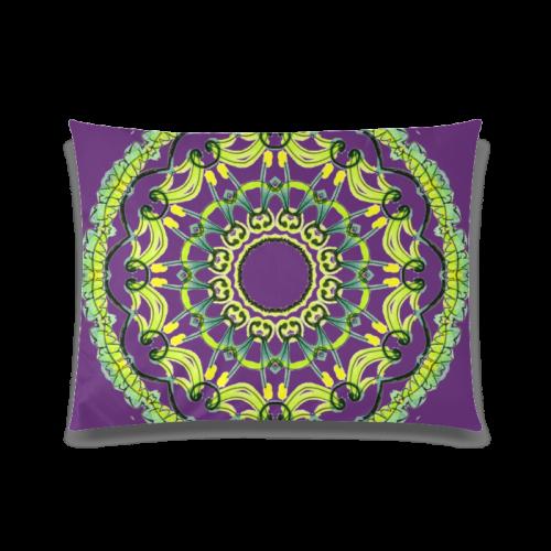 "Lights Leaves Opera Green Flowers Theater Mandala Plum Purple Custom Zippered Pillow Case 20""x26""(Twin Sides)"