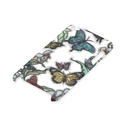 Butterflies and Flowers Hard Case for iPod Touch 4
