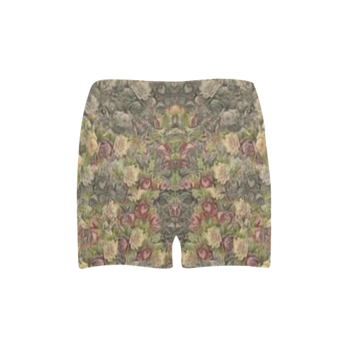 Vintage Gothic Rose Briseis Skinny Shorts (Model L04)