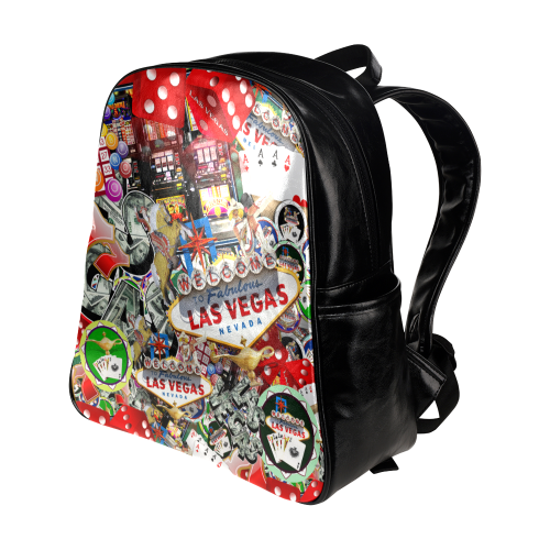 Las Vegas Icons - Gamblers Delight Multi-Pockets Backpack (Model 1636)