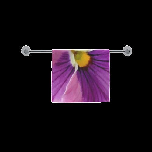"Pink and Purple Pansy Custom Towel 16""x28"""