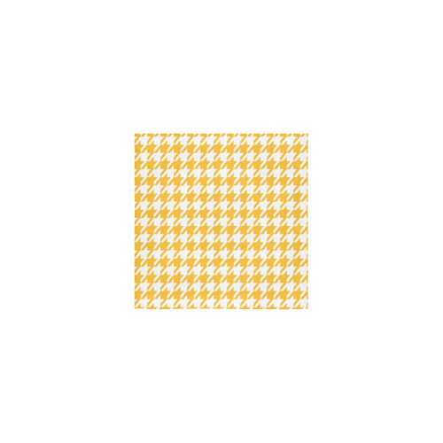"sunny yellow and white houndstooth classic pattern Square Towel 13""x13"""