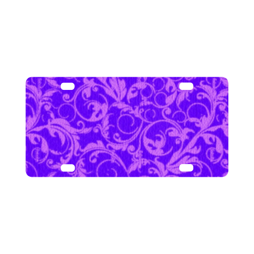Vintage Swirls Amethyst Ultraviolet Purple Classic License Plate