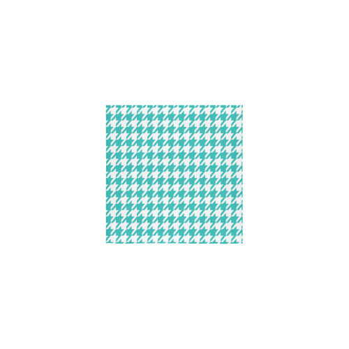 "turquoise and white houndstooth classic pattern Square Towel 13""x13"""