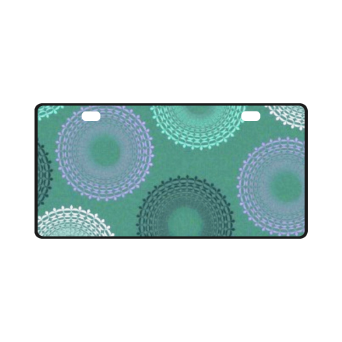 Teal Sea Foam Green Lace Doily License Plate