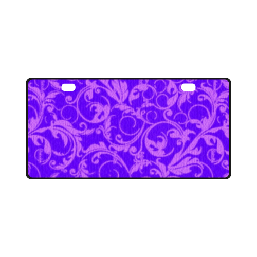Vintage Swirls Amethyst Ultraviolet Purple License Plate