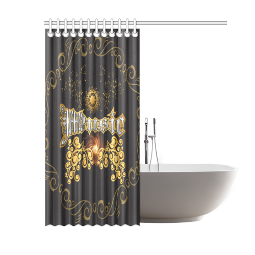 Music The Word Shower Curtain 60 X72 Id D156111