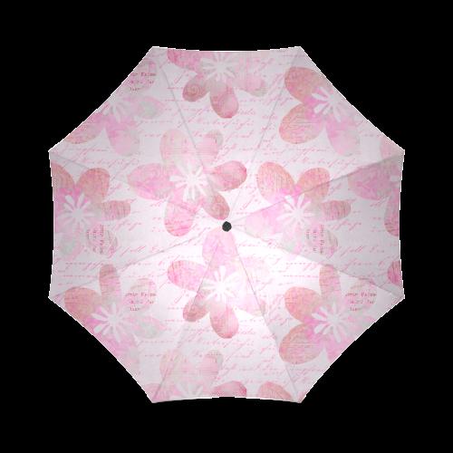 Watercolor Flower Pattern Foldable Umbrella