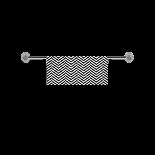 "black and white classic chevron pattern Square Towel 13""x13"""