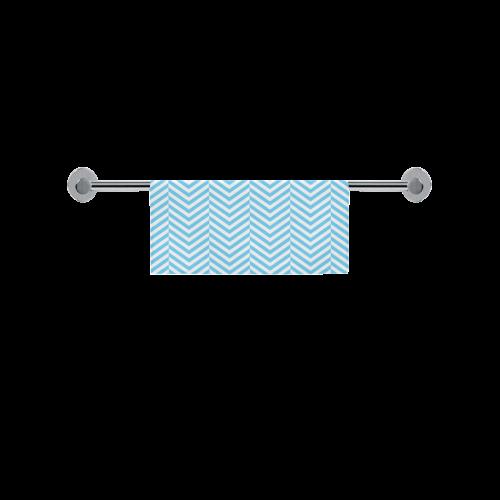 "bright blue and white classic chevron pattern Square Towel 13""x13"""