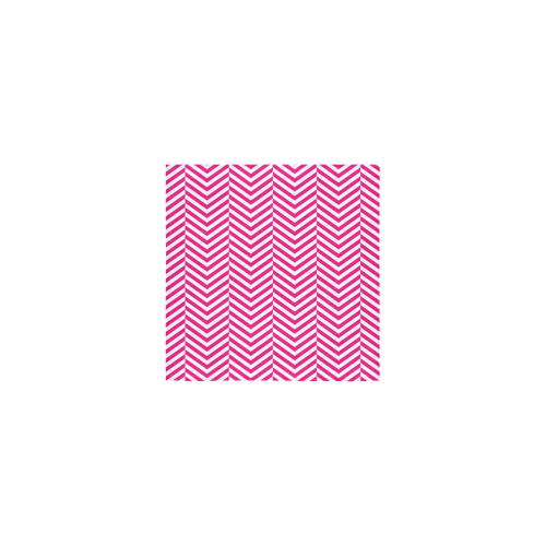 """hot pink and white classic chevron pattern Square Towel 13""""x13"""""""