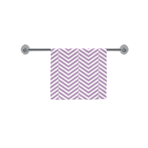 "lilac purple and white classic chevron pattern Custom Towel 16""x28"""