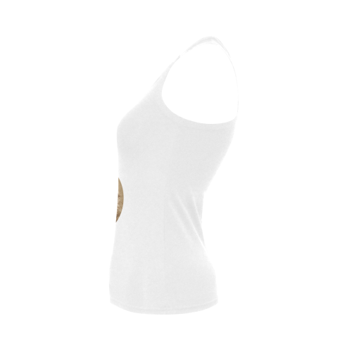 Awesome Animal- sketchy Sloth Women's Shoulder-Free Tank Top (Model T35)