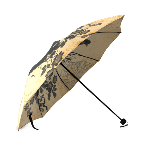 Awesome skull with crow Foldable Umbrella