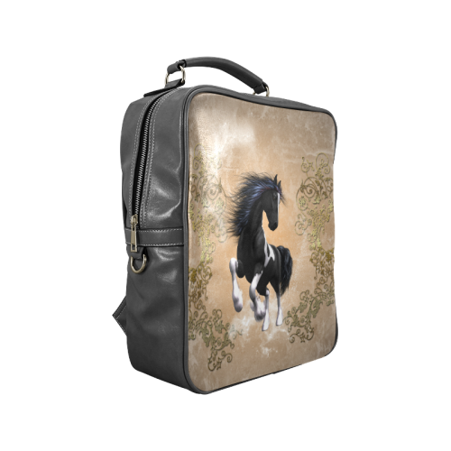 Wonderful horse in black and white Square Backpack (Model 1618)