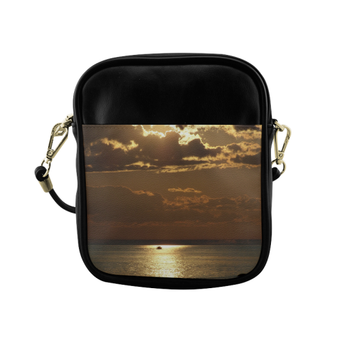 Awesome Sea Scene Sling Bag (Model 1627)