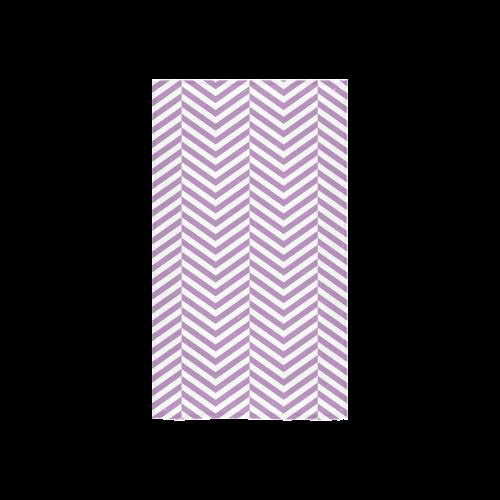 "lilac purple and white classic chevron pattern Custom Towel 16""x28"""