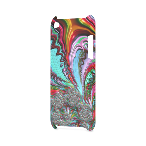 awesome fractal 02 red Hard Case for iPod Touch 4