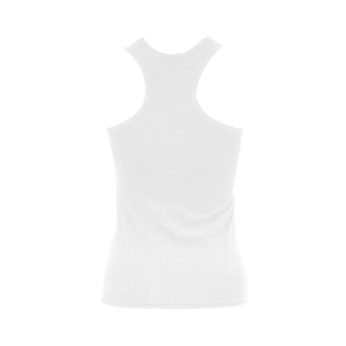 sweet piglet black white Women's Shoulder-Free Tank Top (Model T35)