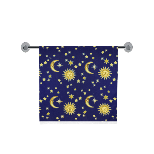 "Sun, Moon & Stars Bath Towel 30""x56"""