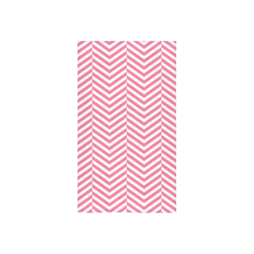 "pink and white classic chevron pattern Custom Towel 16""x28"""