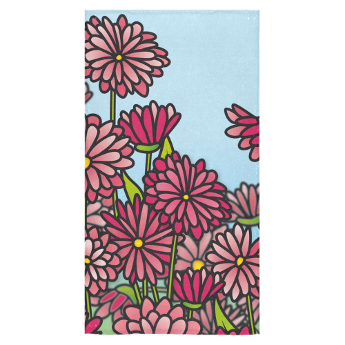 "chrysantenum flower field pink floral Bath Towel 30""x56"""