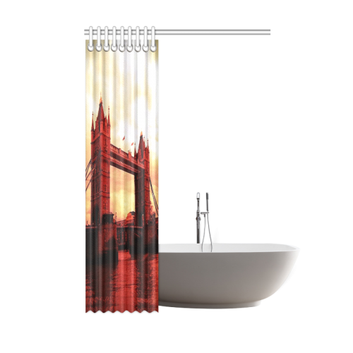 "Travel-London Tower Bridge Shower Curtain 48""x72"""