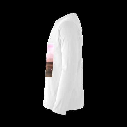 Travel-London, pink Sunny Men's T-shirt (long-sleeve) (Model T08)
