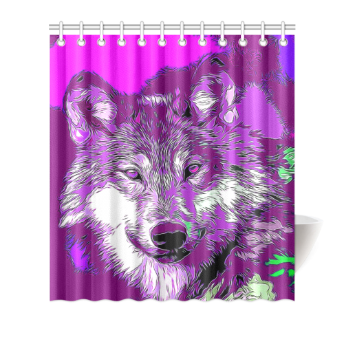 "Wolf20151112 Shower Curtain 66""x72"""