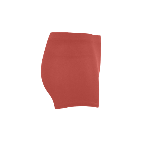 Aurora Red Color Accent Briseis Skinny Shorts (Model L04)
