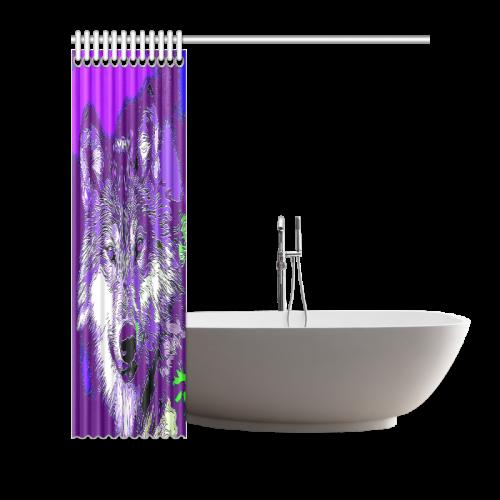 """Wolf20151111 Shower Curtain 66""""x72"""""""