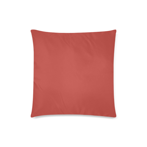 """Aurora Red Color Accent Custom Zippered Pillow Case 18""""x18"""" (one side)"""