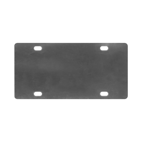 abstract music Classic License Plate