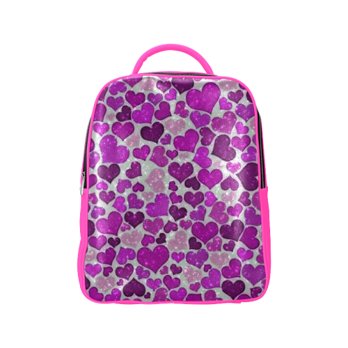 sparkling hearts purple Popular Backpack (Model 1622)