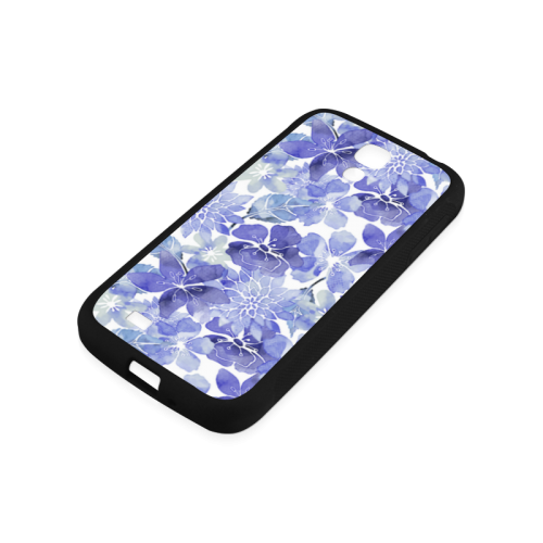 Watercolor Flower Pattern Rubber Case for Samsung Galaxy S4