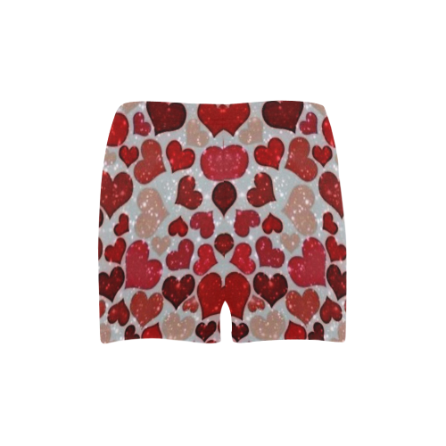 sparkling hearts, red Briseis Skinny Shorts (Model L04)