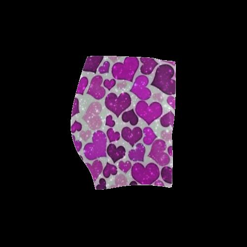 sparkling hearts purple Briseis Skinny Shorts (Model L04)