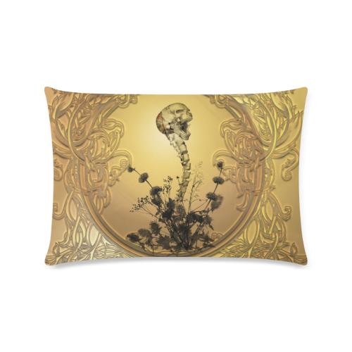 """Awesome skull Custom Zippered Pillow Case 16""""x24""""(Twin Sides)"""
