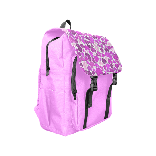 sparkling hearts purple Casual Shoulders Backpack (Model 1623)