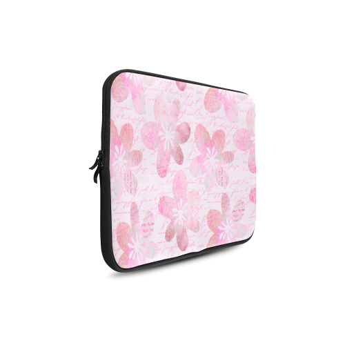Watercolor Flower Pattern Custom Sleeve for Laptop 17""