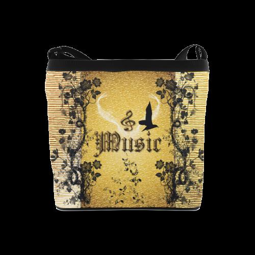 Music, decorative clef Crossbody Bags (Model 1613)