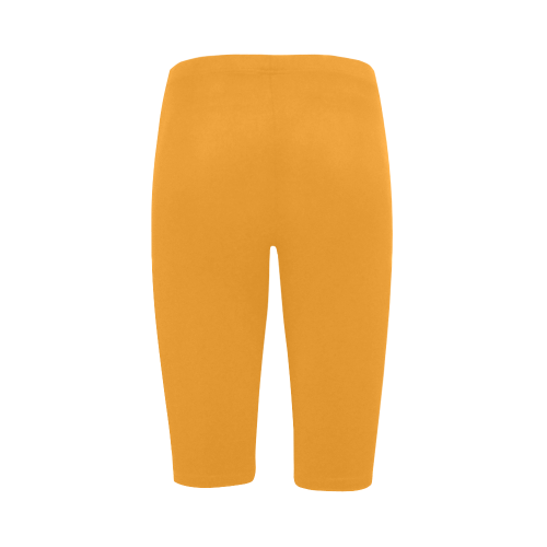 Radiant Yellow Color Accent Hestia Cropped Leggings (Model L03)