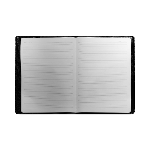 Cool Black Color Accent Custom NoteBook B5