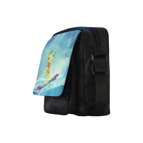 Surfing Alien Crossbody Nylon Bags (Model 1633)