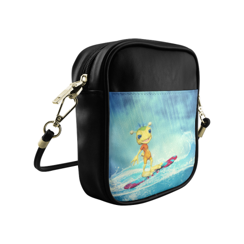 Surfing Alien Sling Bag (Model 1627)