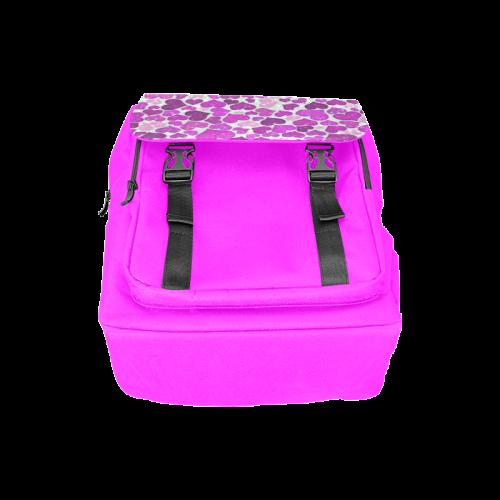 sparkling hearts purple Casual Shoulders Backpack (Model 1623)